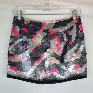 Topshop beaded mini skirt